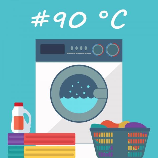 Spalare la 90 grade C, maxim 8 Kg